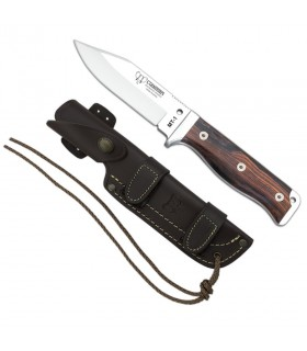 cocobolo handle tactical knife, blade 11 cms.