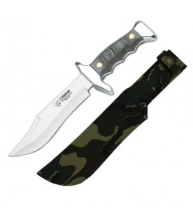 Green ABS handle hunting knife