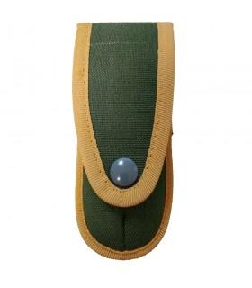 Funda navaja verde con bordes amarillos