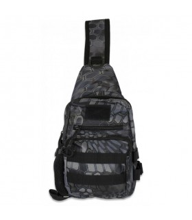 Shoulder Bag Barbaric Black Python Camo