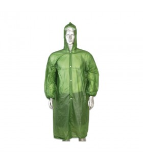 Poncho lightweight waterproof green color
