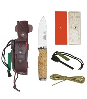 Hunting knife birch curly polished (complete Kit)