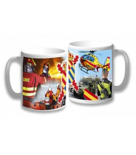 Cup Ceramic UME (Military Emergency Unit) of Spain