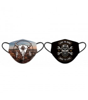 Face accessory reversible, Live to Ride, Ride to Live