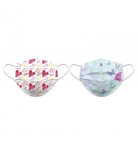 Face accessory reversible decoration hearts