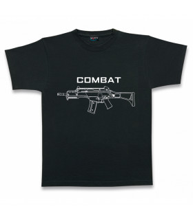 Black T-Shirt Combat Armed Forces