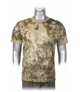 T-shirt military camouflage Barbaric Coyote Python in short sleeve