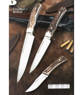 Creole-Bowie knife with antler handle