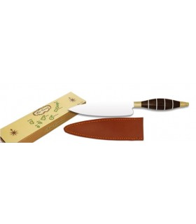 Wooden handle knife, blade 11 cms.