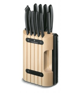 Wooden stand with 11 knives