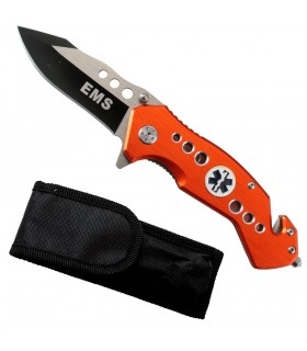 EMS rescue knife, assisted opening