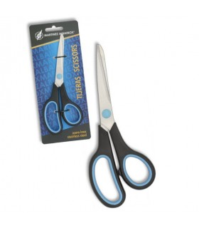 slip scissors, blue handle